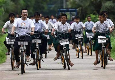 """10000辆共享单车,离开""""坟场""""到缅甸"""