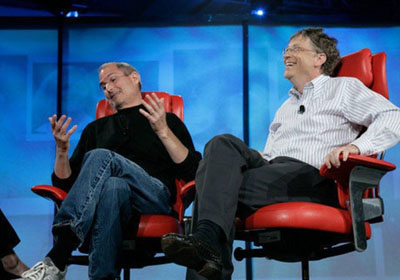 """比尔·盖茨谈""""宿敌""""乔布斯:设计感无人能敌"""